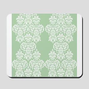 Light Green Damask Mousepad