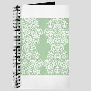 Light Green Damask Journal
