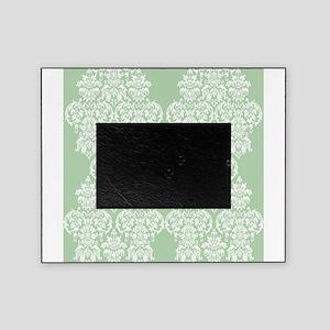 Light Green Damask Picture Frame