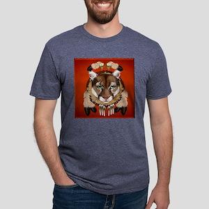 Queen Duvet Cougar Shield Mens Tri-blend T-Shirt