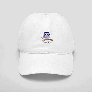 Custom name winter owl blue Cap