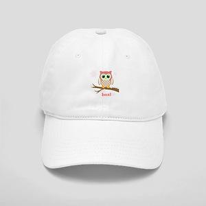 Custom name winter owl girl Cap