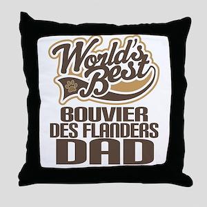 Bouvier Des Flanders Dad Throw Pillow