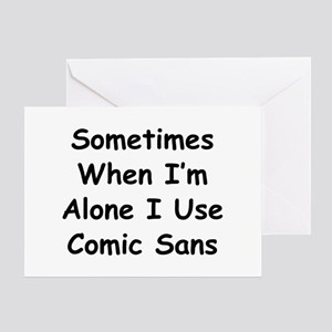Some Comic Sans Greeting Card