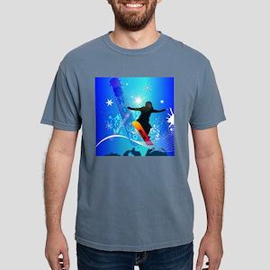 Snowboarding, snowboarde Mens Comfort Colors Shirt