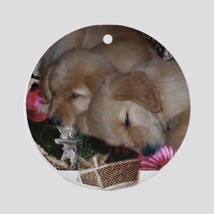 Golden Retriever Christmas Ornament (Round)