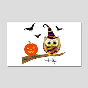 Custom name Halloween owl 20x12 Wall Decal