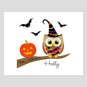 Custom name Halloween owl Small Poster