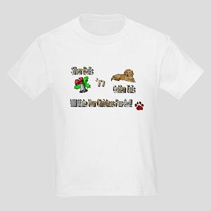 Golden Retriever Christmas Kids T-Shirt