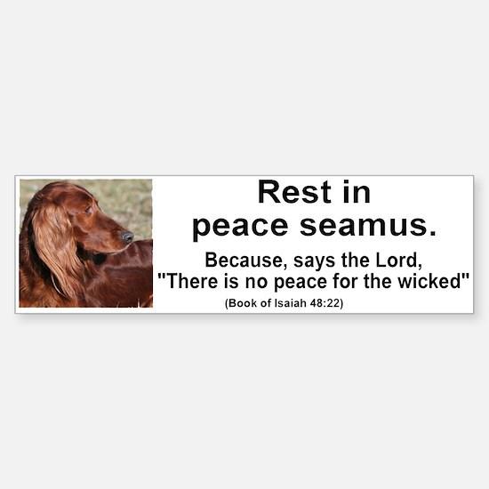 Seamus 2 bumper Sticker (Bumper)