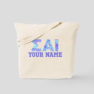 Sigma Alpha Iota Blue Purple Personalized Tote Bag