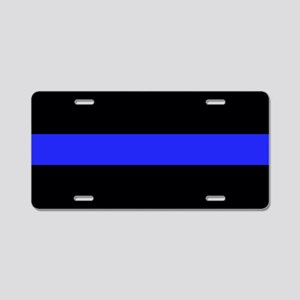 Thin Blue Line Aluminum License Plate