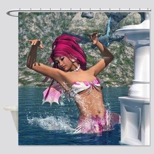 Dancing Mermaid Shower Curtain