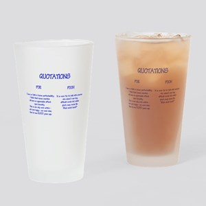 Poe and Pooh Quotations Drinking Glass
