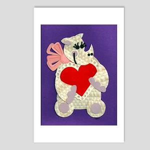 Rhino Love Postcards (Package of 8)