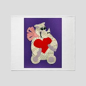Rhino Love Throw Blanket