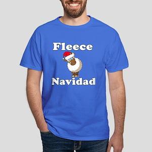 Fleece Navidad (white) Dark T-Shirt