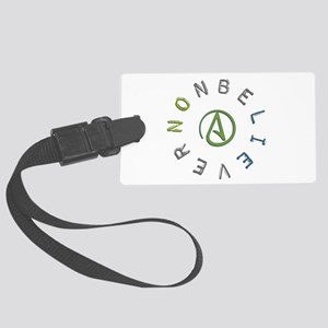 Nonbeliever Large Luggage Tag