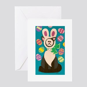Mad Easter Cat Greeting Card