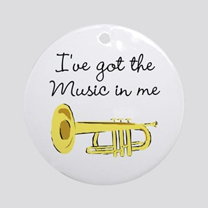 TRUMPET PLAYER Ornament (Round)