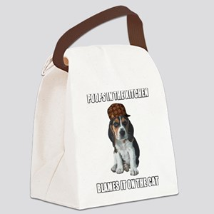 Scumbag Beagle Canvas Lunch Bag