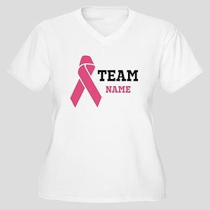 Team Support Women's Plus Size V-Neck T-Shirt