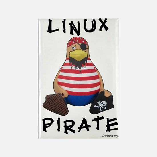 Linux Pirate Tux Magnet