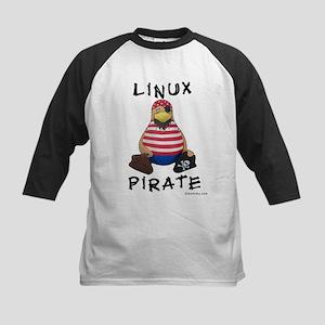 Linux Pirate Kids Baseball Jersey