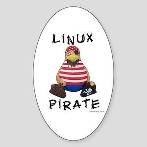 Linux Pirate Oval Sticker