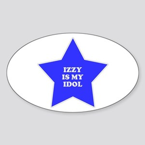 Izzy Is My Idol Oval Sticker