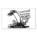 I Survived Hurricane Mic Sticker (Rectangle 10 pk)