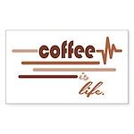 Coffee is Life Sticker (Rectangle 10 pk)