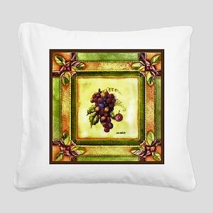Best Seller Grape Square Canvas Pillow