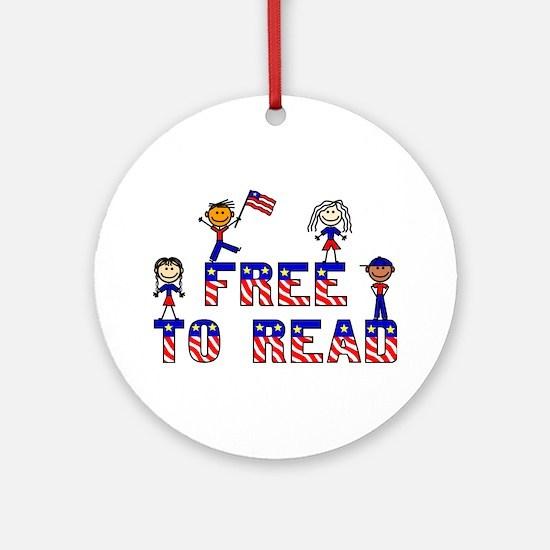 Free Stick Kids Ornament (Round)