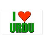 I Love Urdu Sticker (Rectangle 10 pk)
