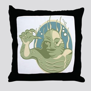 Creature from the Black Lagoon Throw Pillow