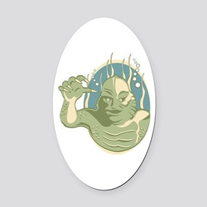 Creature from the Black Lagoon Oval Car Magnet