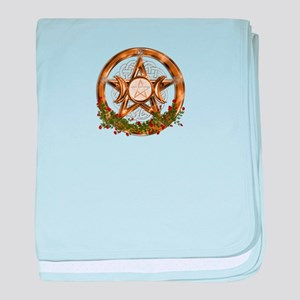 Gold Triple Moon Pentacle baby blanket