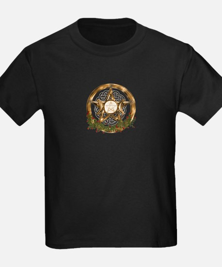 Gold Triple Moon Pentacle T