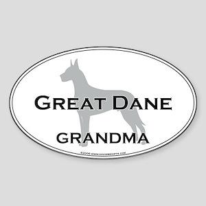 Great Dane GRANDMA Oval Sticker