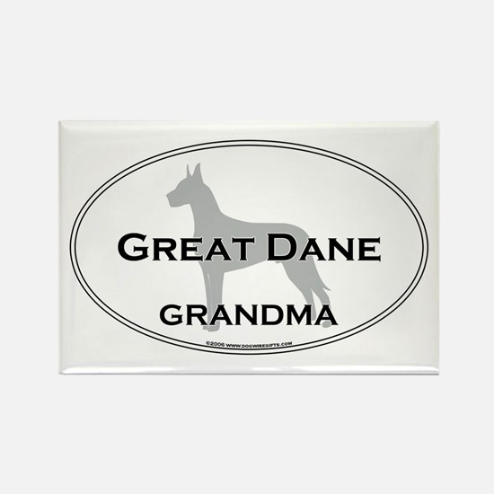 Great Dane GRANDMA Rectangle Magnet
