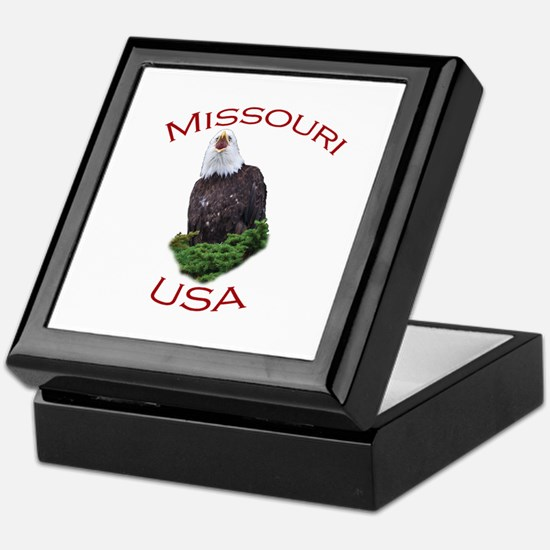 Missouri, USA...Screaming Bald Eagle Keepsake Box