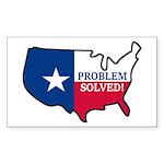 Problem Solved Flag Sticker (Rectangle 10 pk)
