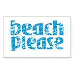 Beach Please Sticker (Rectangle 10 pk)