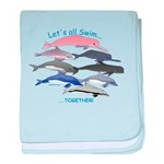 All Dolphins Lets Swim Together baby blanket