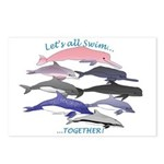 All Dolphins Lets Swim Together Postcards (Package