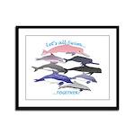 All Dolphins Lets Swim Together Framed Panel Print