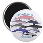 All Dolphins Lets Swim Together Magnet