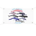 All Dolphins Lets Swim Together Banner