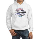 All Dolphins Lets Swim Together Hooded Sweatshirt